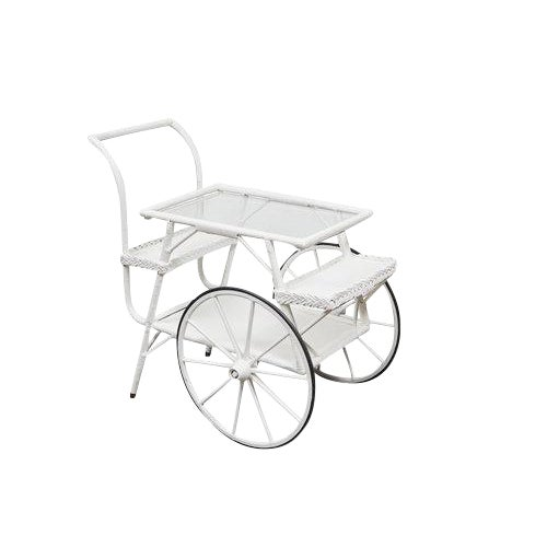 Wicker Drinks Cart For Sale