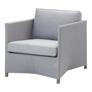 Cane-Line Diamond Lounge Chair, Light Gray For Sale