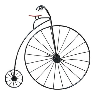 Curtis Jere Bicycle Mini 'Highwheeler' Wall Sculpture For Sale