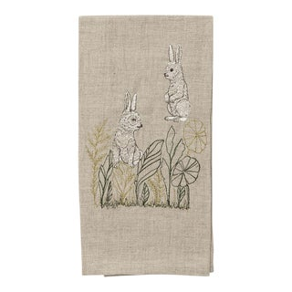 Bunny Meadow Tea Towel