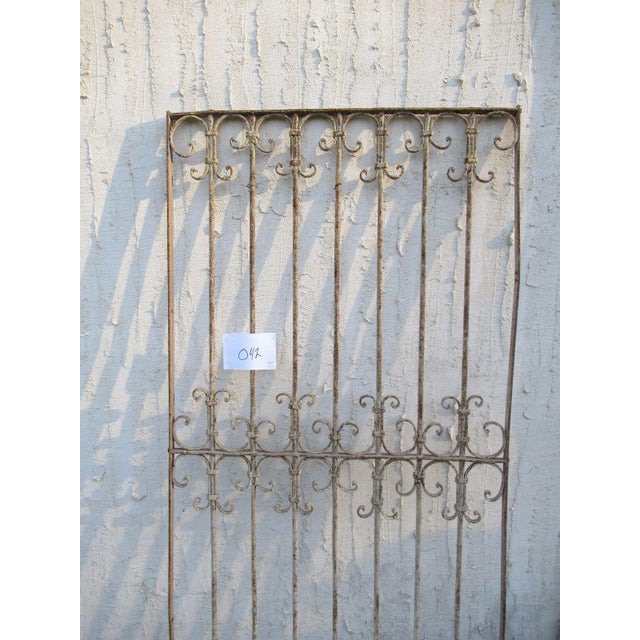Antique Victorian Iron Gate Window Garden Fence Architectural Salvage Door #042 For Sale - Image 4 of 6