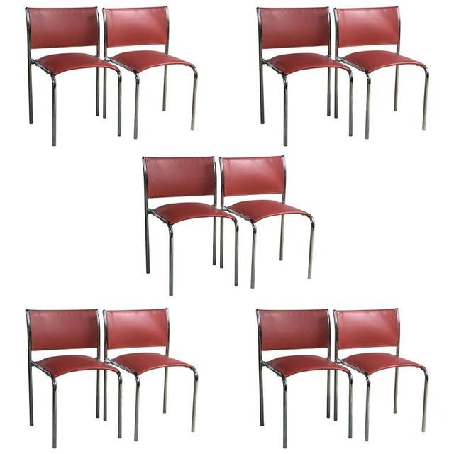 Thonet Mies van der Rohe-Style Chairs - Set of 10 - Image 1 of 4