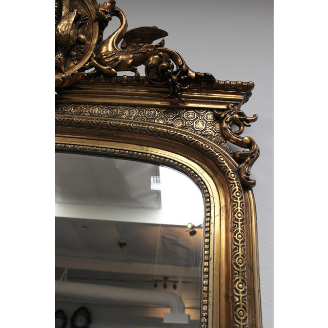 French Federal Gold Gilt Mirror For Sale - Image 4 of 7
