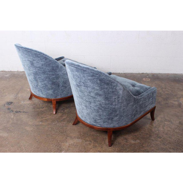 Blue Pair of Slipper Chairs by t.h. Robsjohn-Gibbings for Widdicomb For Sale - Image 8 of 12