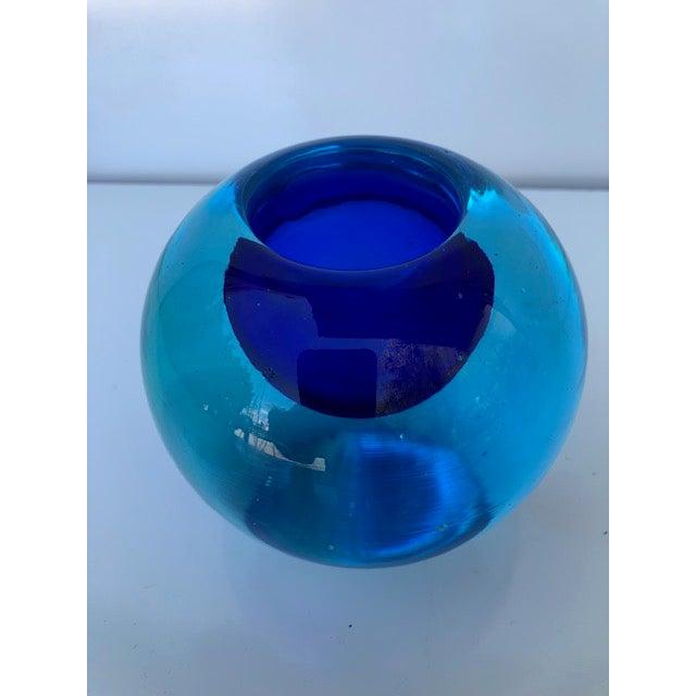 Available this vintage Mid-Century Modern rare Flavio Poli for Seguso Vetri D'Arte Murano art glass sommerso bowl ashtray...