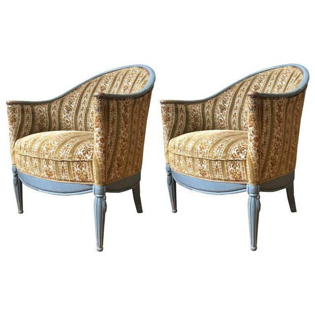 Pair of French Art Deco Style Armchairs - Image 9 of 9