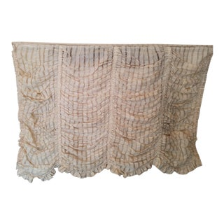 Brunschwig and Fils Austrian Creamy Beige Linen Open Weave Shade For Sale