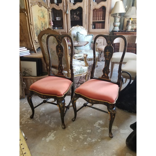 Pair of Chinoiserie Chairs For Sale - Image 12 of 12