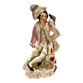 19th Century Large Staffordshire Figure of Falconer