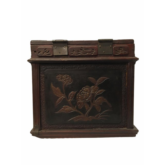 Wood Antique Wooden Chinese Keepsake / Jewelry Box For Sale - Image 7 of 10