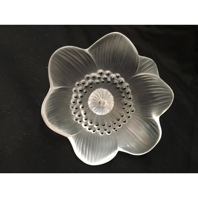 Lalique anemone flower paper weight chairish delicate and classic lalique anemone crystal flower paperweight or can be use as unique mightylinksfo