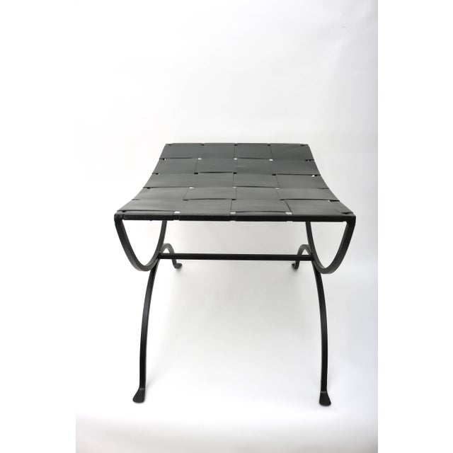 Mid-Century Modern Iron Benches - a Pair For Sale - Image 4 of 8
