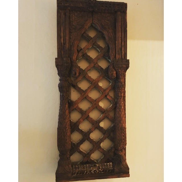 Boho Chic Antique Carved Mahogany Architectural Piece For Sale - Image 3 of 6
