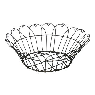 Vintage Wire Bowl Basket