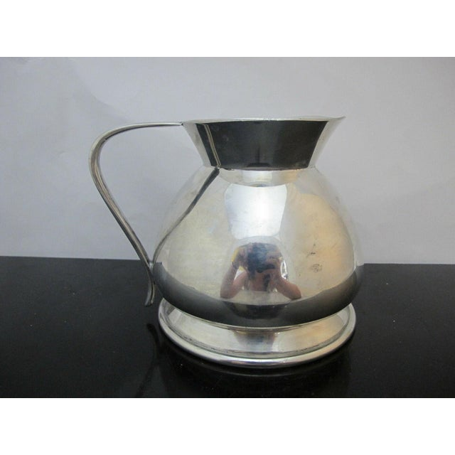 Modern Modernist Brooks Brothers Silver Plate Water Pitcher W1814, England For Sale - Image 3 of 7