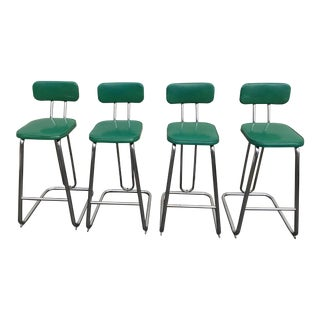 Groovy Vintage Used Industrial Stools Chairish Bralicious Painted Fabric Chair Ideas Braliciousco