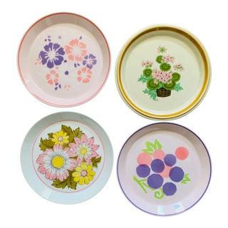 Mismatched Vintage Floral Salad Plates - Set of 4 For Sale