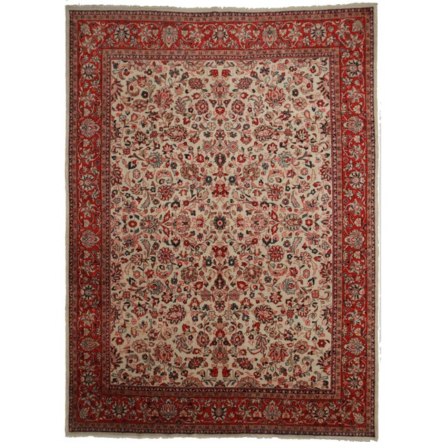 Hand-Knotted Persian Mahal Rug - 10′ × 14′ - Image 1 of 2
