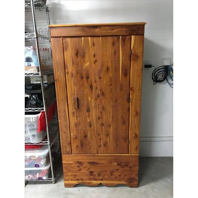 Vintage Cedar Armoire - Image 2 of 9