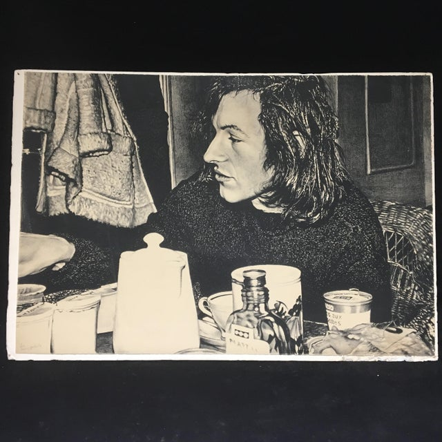 """1972 """"Jean Frédéric Schnyder"""" Signed Lithograph by Franz Gertsch For Sale - Image 9 of 9"""