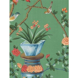 Casa Cosima Green Fauna Wallpaper Mural - Sample For Sale