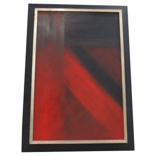 1970s Abstact Red Painting
