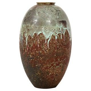 1930s Boho Chic Mobach Dutch Ceramic Vase For Sale