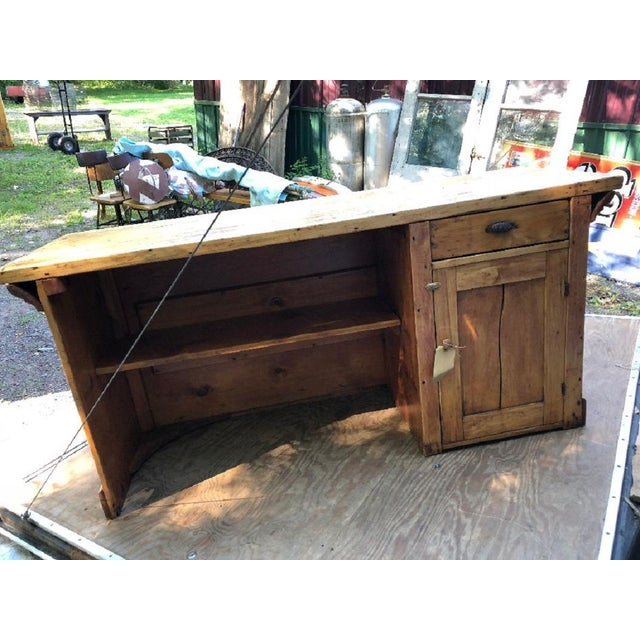 Industrial 20th Century Industrial Candy Store Wood Counter For Sale - Image 3 of 4