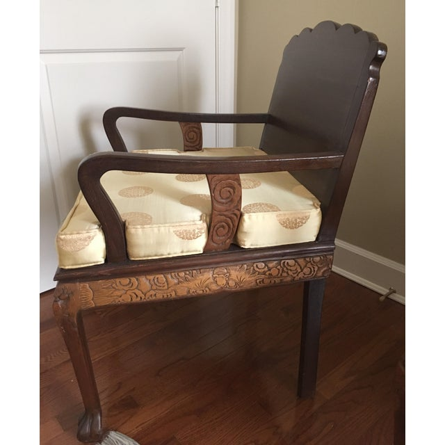 Antique High Relief Carved Arm Chairs - A Pair For Sale - Image 10 of 10