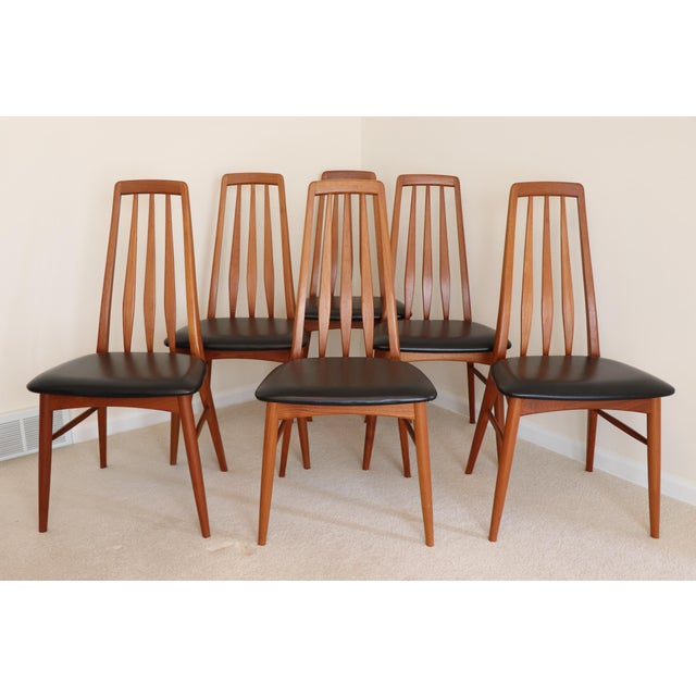 "Danish Modern Niels Koefoed ""Eva"" Dining Chairs - Set of 6 For Sale - Image 11 of 11"