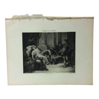 """Antique Photogravure on Paper, """"Augustus Caesar and Cleopatra"""" by August Von Heckel - Circa 1860 For Sale"""