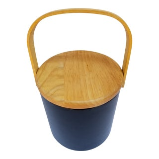 1960s Mid Century Modern Georges Briard Blue Ice Bucket For Sale