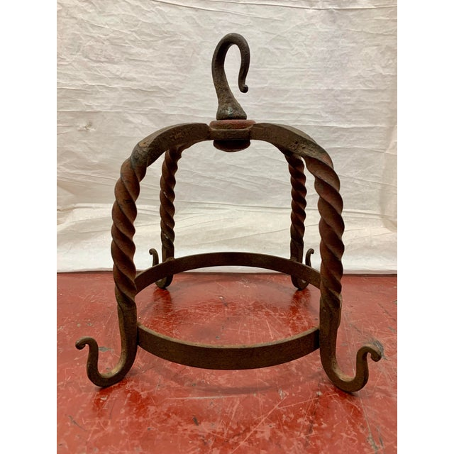 French French Wrought Iron Butcher's Rack For Sale - Image 3 of 8