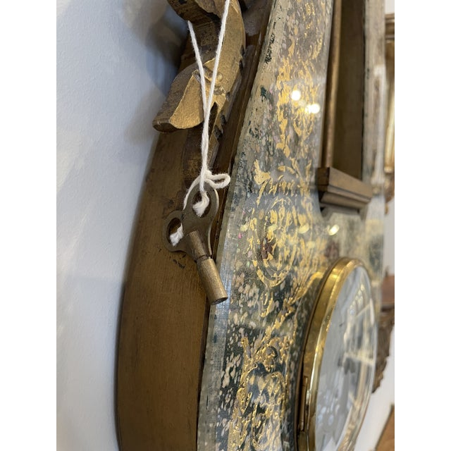 1950s 1950s English Wall Clock For Sale - Image 5 of 8