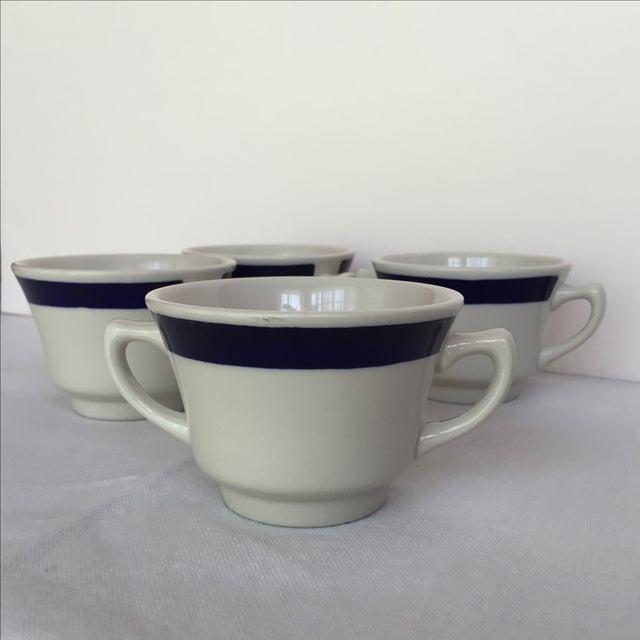 White & Blue Bouillon Soup Bowls - Set of 4 For Sale - Image 11 of 11
