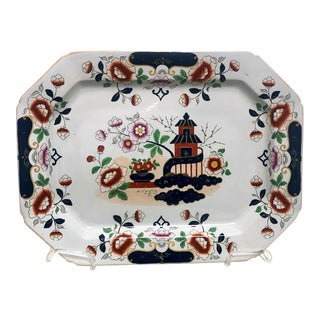 Octagonal Ironstone Platter, England Circa 1810 For Sale
