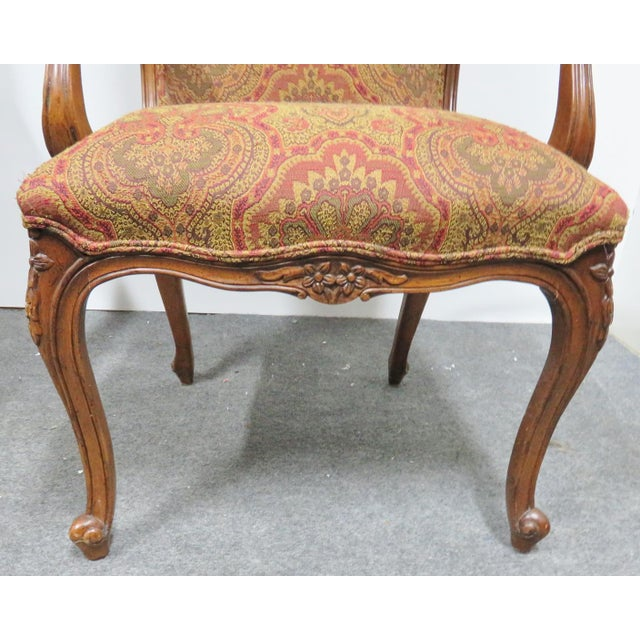 Late 20th Century Louis XV Carved Walnut Chairs by EJ Victor - a Pair For Sale - Image 5 of 8