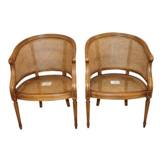 Cane Chairs in the Louis XVI Style - a Pair For Sale