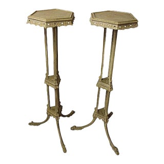 English Gilt Torchiere Stands - A Pair For Sale