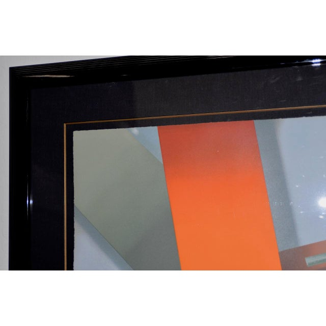 Daniel Heidi Modernist Abstract Serigraph For Sale - Image 4 of 10