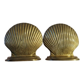 Penco Brass Shell Bookends - a Pair For Sale