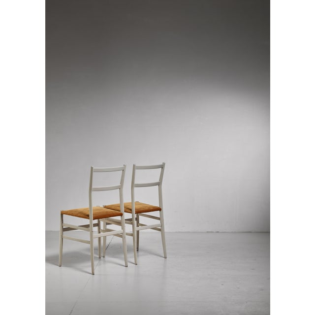 Cassina Gio Ponti Pair Rare Grey Leggera Chairs, Italy, 1950s For Sale - Image 4 of 5