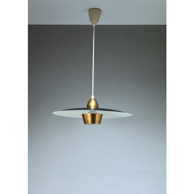 Mid-Century Modern One of a Pair Sigvard Bernadotte Pendants For Sale - Image 3 of 3