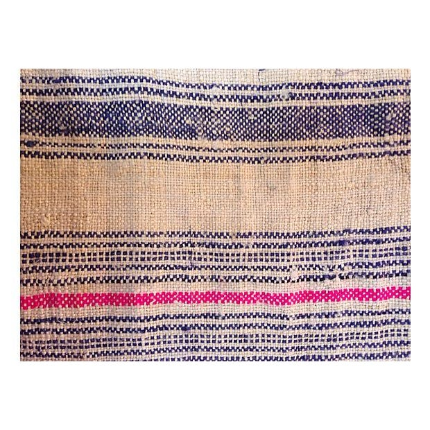 Handwoven Striped Linen Fabric - 10.6 Yards - Image 4 of 5