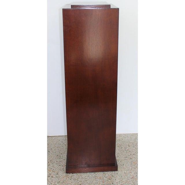 Brown Vintage Mahogany Pedestal For Sale - Image 8 of 13