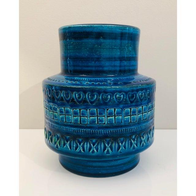 Ceramic Aldo Londi for Bittosi Rimini Blue Vase For Sale - Image 7 of 7
