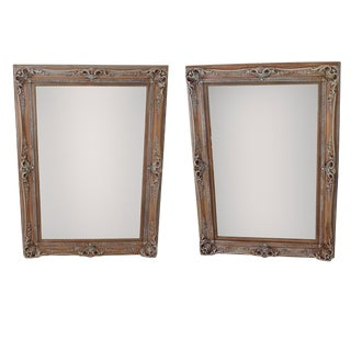 Antique Ornate Frames With New Mirrors, Pair For Sale