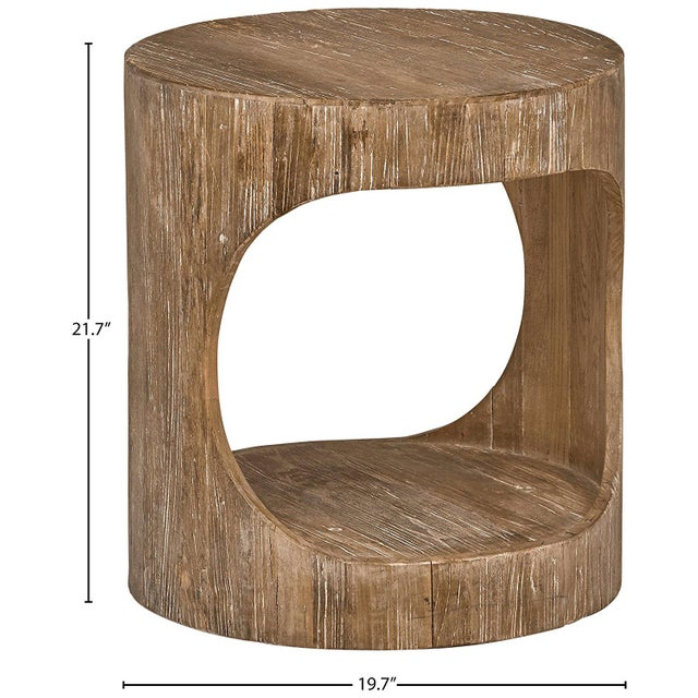 Miramar Cutout Wooden Side Table For Sale In New York - Image 6 of 8