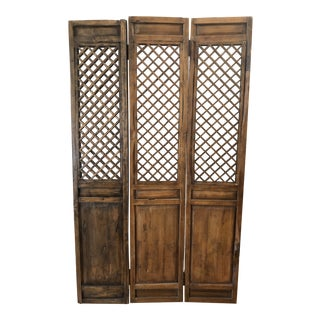 19th Century Chinese Teak Door For Sale