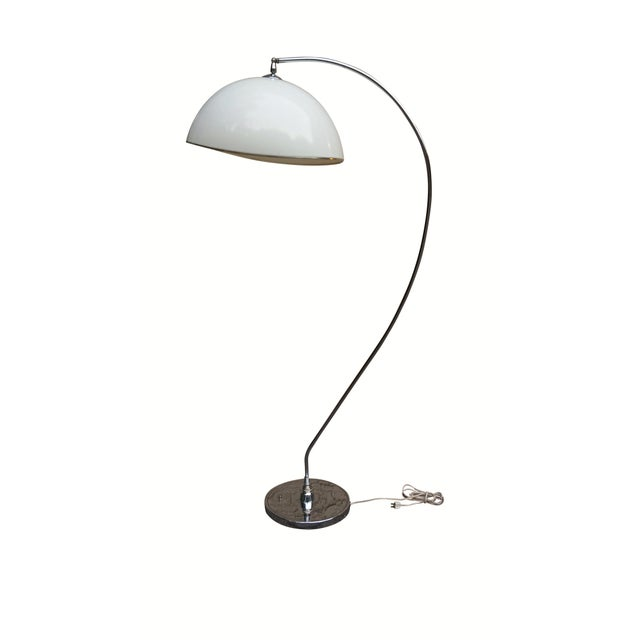 Mid Century Modern Chrome Floor Lamp For Sale In Tampa - Image 6 of 6